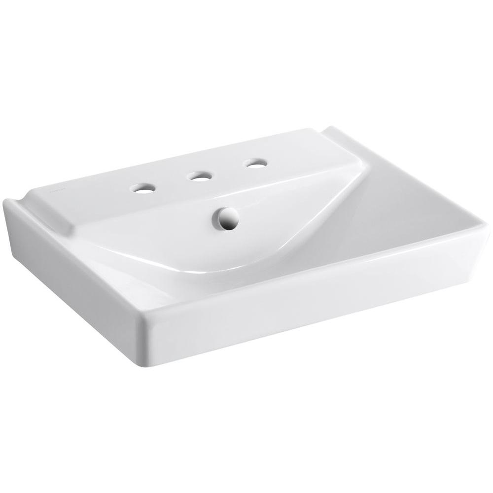 kohler wall mount bathroom sink kohler reve wall mounted ceramic bathroom sink in white 23590