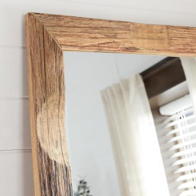 Oversized Brown Wood Frame Classic Floor Mirror (76 in. H x 31 in. W)