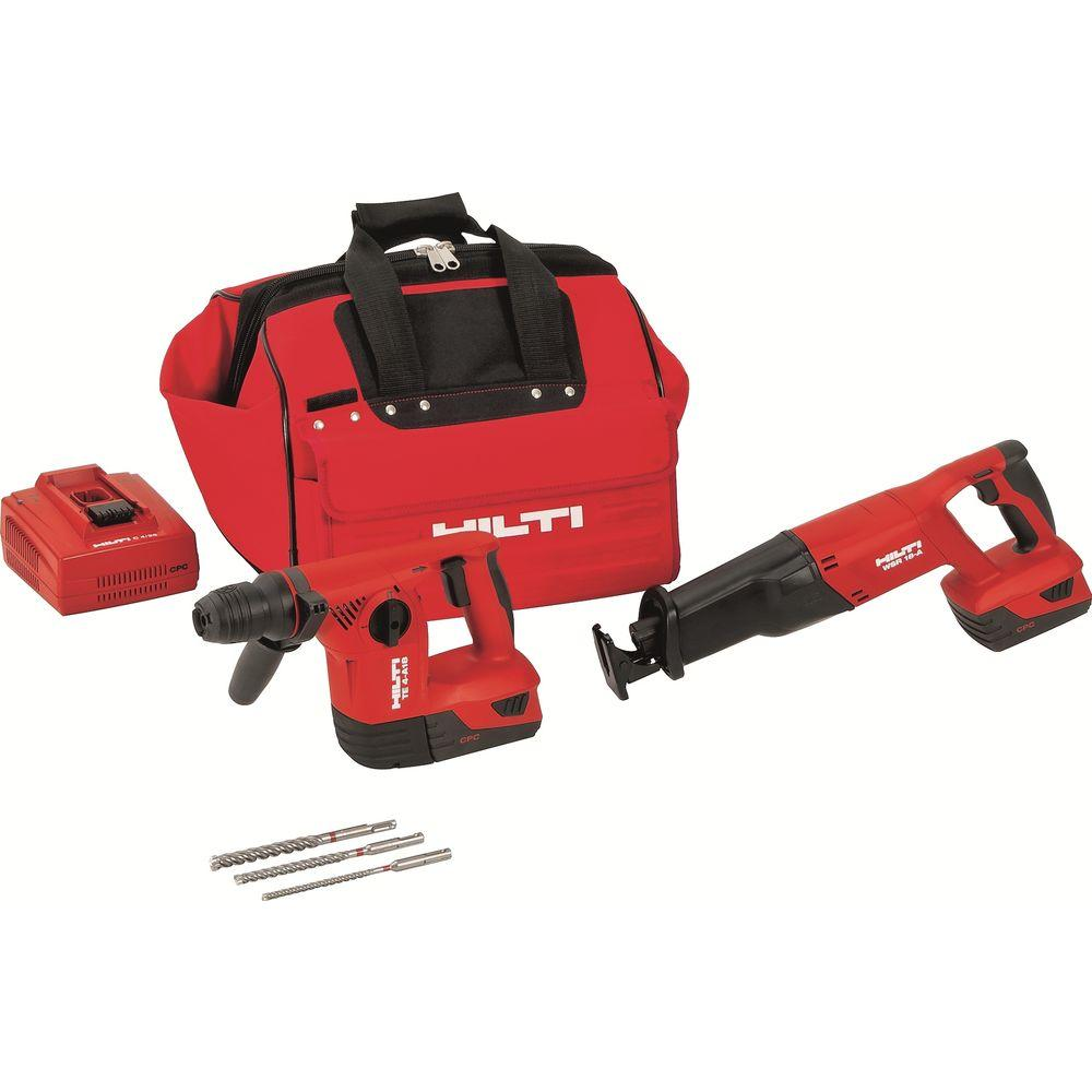 Hilti 18-Volt Lithium-Ion Cordless Rotary Hammer Drill/Reciprocating Saw Combo Kit (2-Tool)