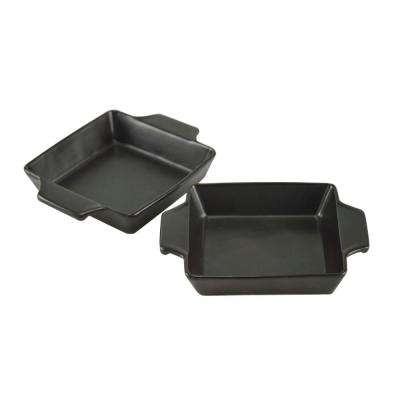 Flame-Friendly Ceramic Bakers (Set of 2)