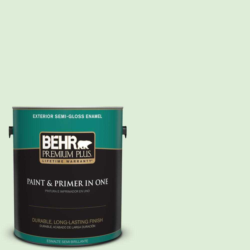 1-gal. #440C-2 Cucumber Crush Semi-Gloss Enamel Exterior Paint