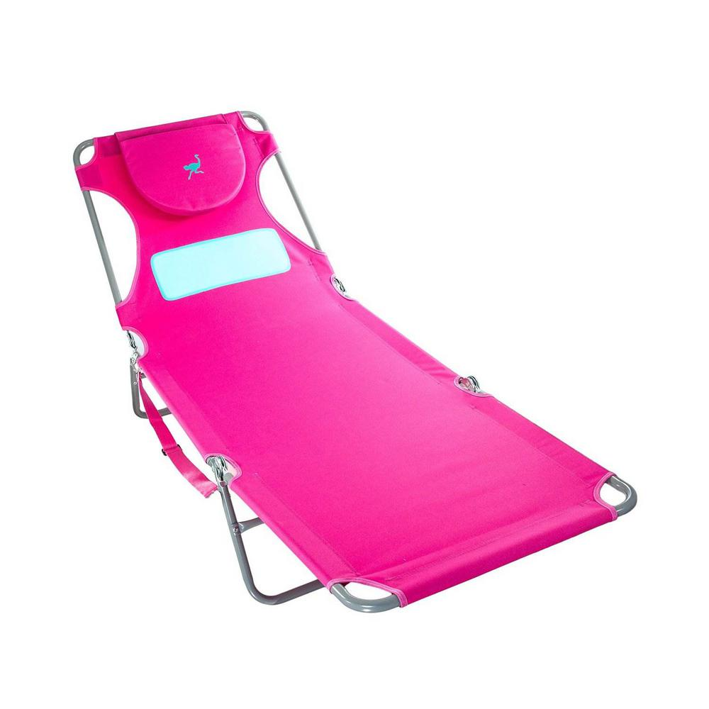 Ostrich Pink Comfort Lounger Face Down Sunbathing Chaise