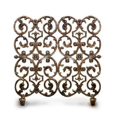 Avalon Bronze 2-Panel 30 in. W Fireplace Screen