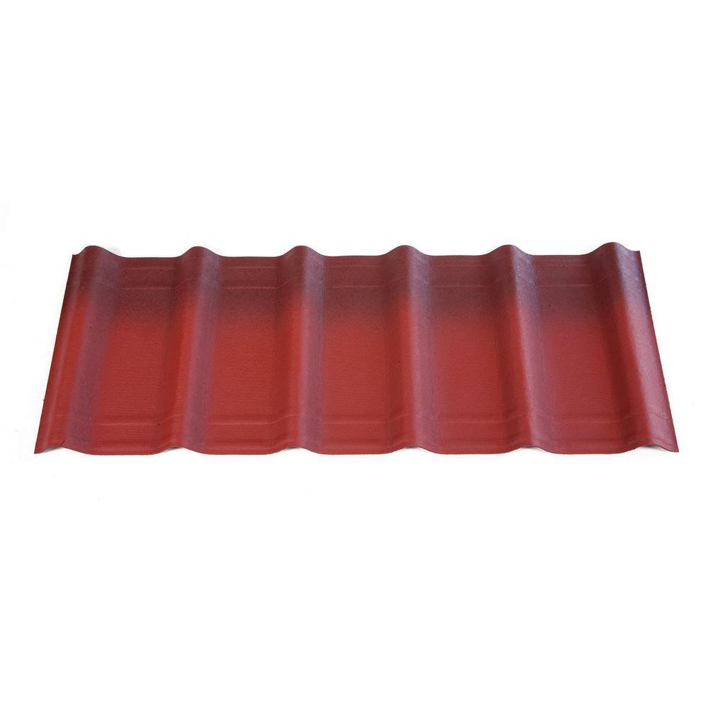 Clic Red Asphalt Architectural Shingles 33 Sq Ft Per Bundle 10 Piece