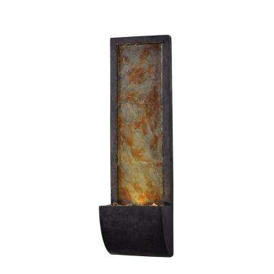 Triptych Resin and Slate Indoor Wall Fountain