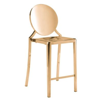 Eclipse 39 in. Gold Counter Chair (Set of 2)