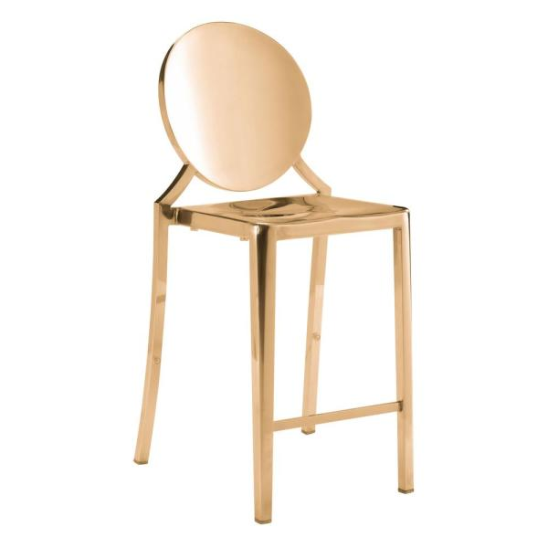 ZUO Eclipse 39 in. Gold Counter Chair (Set of 2)