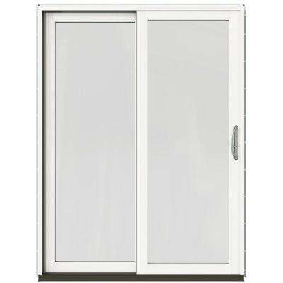 59-1/4 in. x 79-1/2 in. W-2500 Mesa Red Left-Hand Clad-Wood Sliding Patio Door with Brilliant White Interior