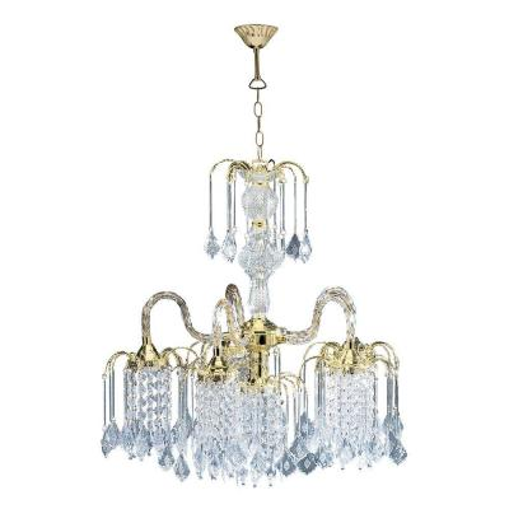 4-Light Polished Brass Chandelier