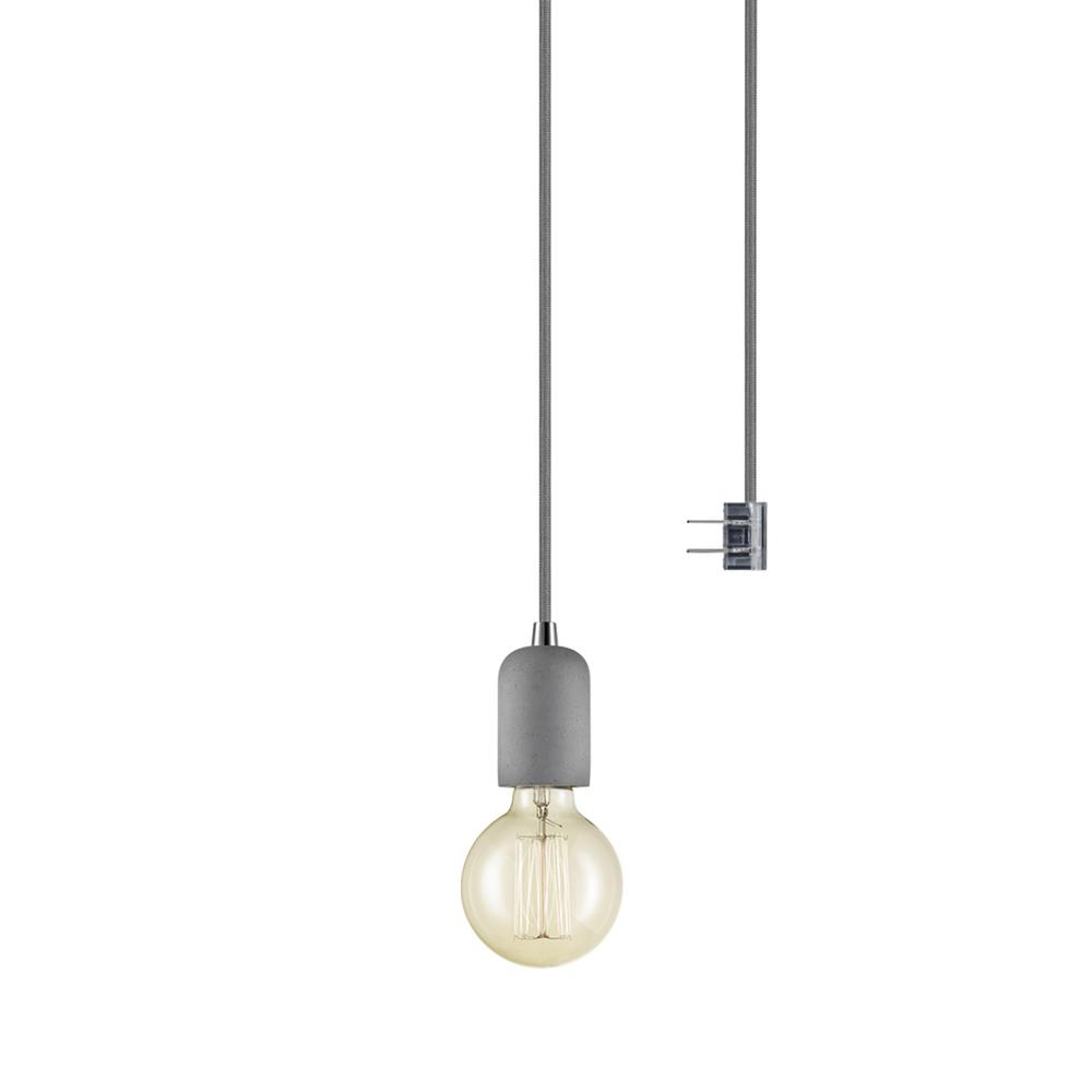 Globe Electric Virginia 1-Light Gray Pendant