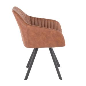 Miraculous Lumisource Clubhouse Pleated Brown Faux Leather Chair Set Forskolin Free Trial Chair Design Images Forskolin Free Trialorg