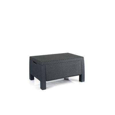 Bahamas Graphite Resin Outdoor Storage Garden Patio Coffee Table