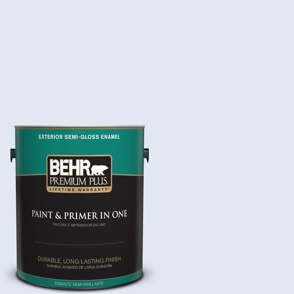 1-gal. #590C-1 Morning Haze Semi-Gloss Enamel Exterior Paint