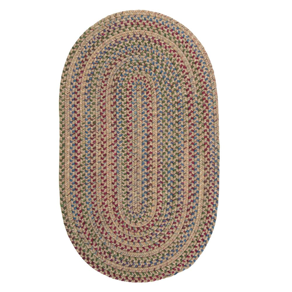 Colonial Mills Millwork Natural 7 Ft X 9 Ft Tweed Indoor Oval Area Rug Mw01r084x108 The Home Depot