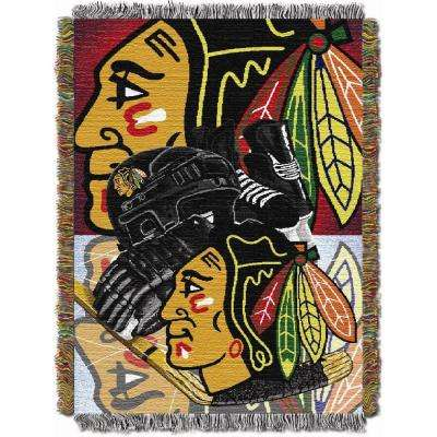 Blackhawks Multi Color HIA Tapestry Throw