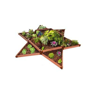 Two Inch Series 12 ft. x 12 ft. Garden Star Classic Sienna Composite Raised Garden Bed