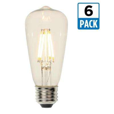 60W Equivalent Soft White ST15 Dimmable Filament LED Light Bulb (6-Pack)