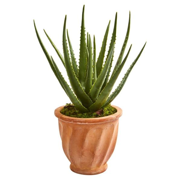 Nearly Natural Indoor Aloe Artificial Plant in Terra Cotta Planter 9059