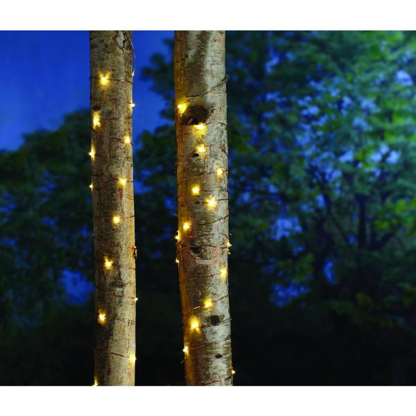 16 ft. Battery Powered 25 Bulb Copper Wire Indoor/Outdoor String Light