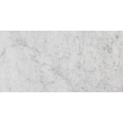 Carrara White 12 in. x 24 in. Polished Marble Floor and Wall Tile (12 sq. ft. / case)