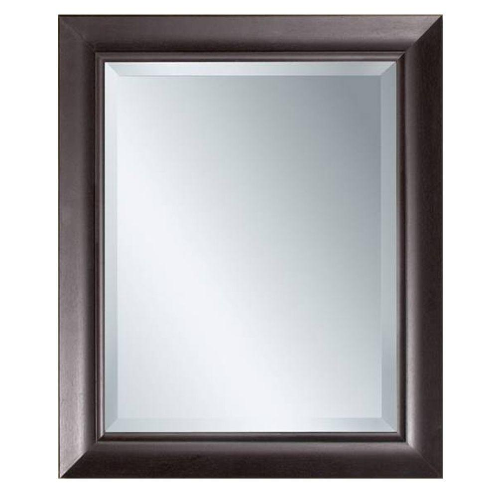 Glacier Bay 30-1/2 in. L x 24-1/2 in. W Transitional Espresso Framed Mirror