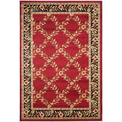 Lyndhurst Red/Black 5 ft. x 8 ft. Area Rug