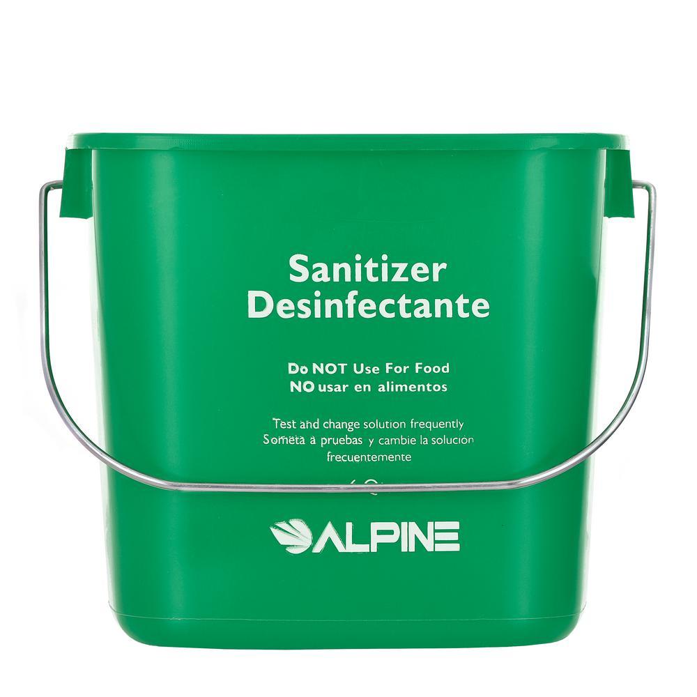 Alpine Industries Alpine Industries 6 Qt. Green Plastic Cleaning Bucket Pail