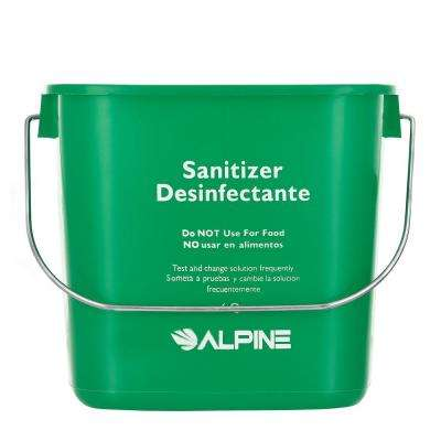 Alpine Industries Green Plastic 3-8 Quart Cleaning Pail Water Mop Bucket 3 Pack