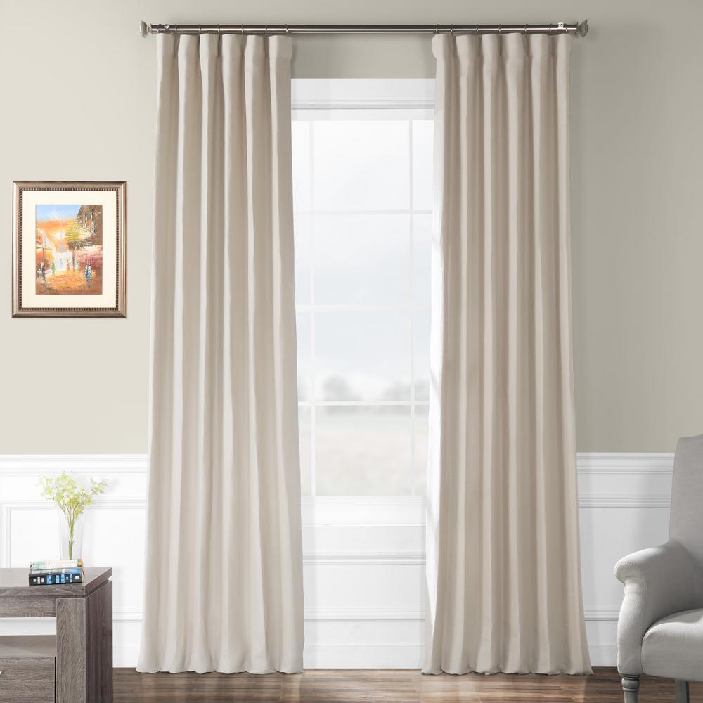 Fresh Khaki Brown French Linen Curtain - 50 in. W x 120 in. L
