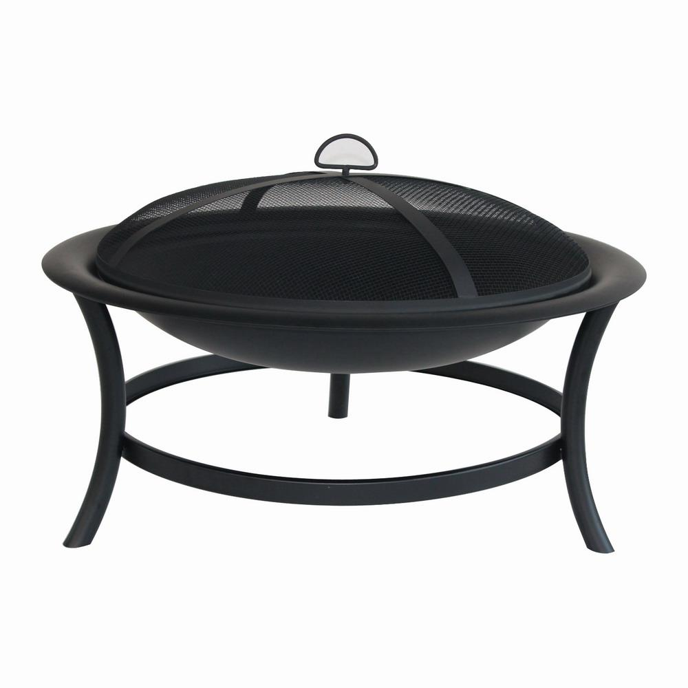 Hampton Bay 30 In Brookland Black Firepit Ft 1062c The