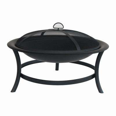 30 in. Brookland Black Firepit