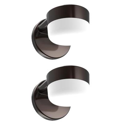 Architectural 12-Watt Integrated LED Wall Pack with 900 Lumens, Dusk to Dawn Outdoor Light for Entry and Patios (2-Pack)