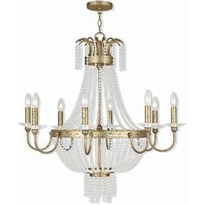 Valentina 8-Light Winter Gold Chandelier