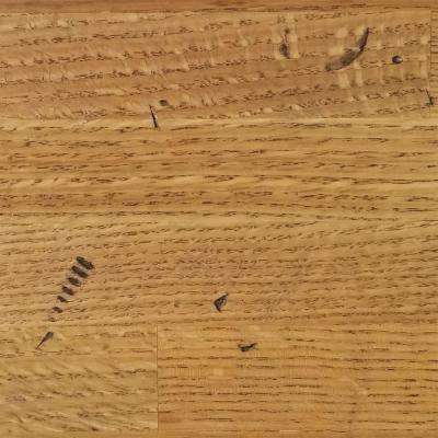 4 in. x 4 in. Wood Countertop in Distressed Oak