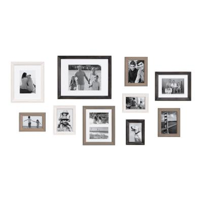 10 Piece Picture Frames Home Decor The Home Depot