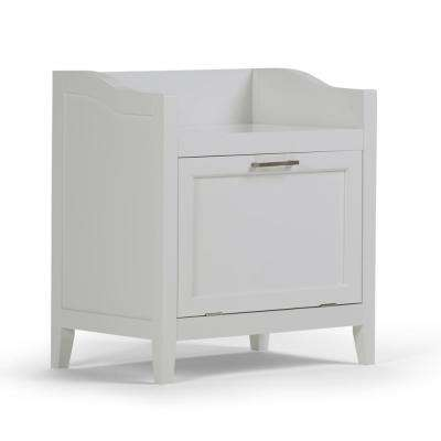 Avington Ready to Assemble 22x24.3x15 in. Bar Cabinet Storage Hamper Bench in White