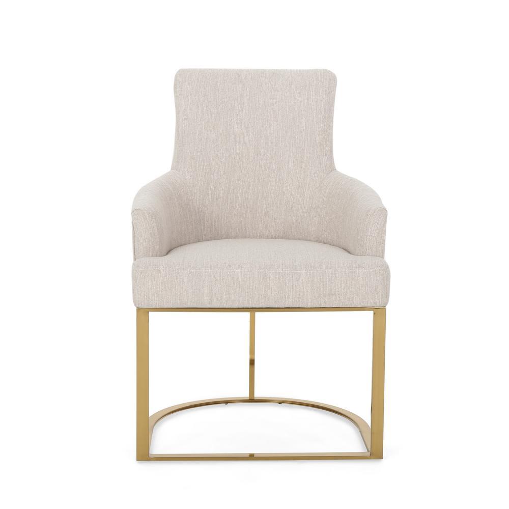 Gloria Beige Fabric Accent Chair