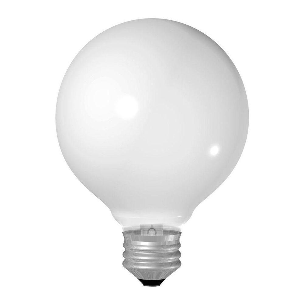 25-Watt Incandescent G25 Globe Double Life Soft White Light Bulb (2-Pack)