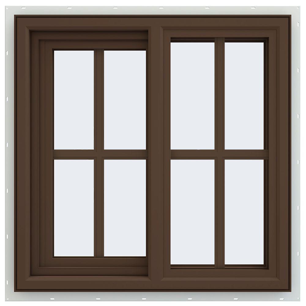 Sliding Glass Windows: JELD-WEN 23.5 In. X 23.5 In. V-4500 Series Left-Hand