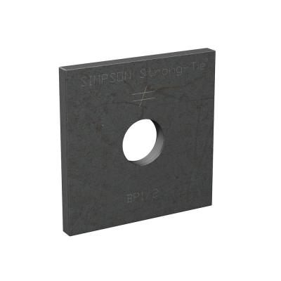 BP 2 in. x 2 in. Hot-Dip Galvanized Bearing Plate with 1/2 in. Bolt Dia.