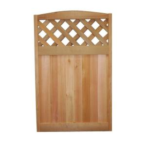 wood fence panels door. signature development 4 ft h x 212 w western red cedar diagonal lattice deluxe arched fence panel30x48 arch ltc the home depot wood panels door