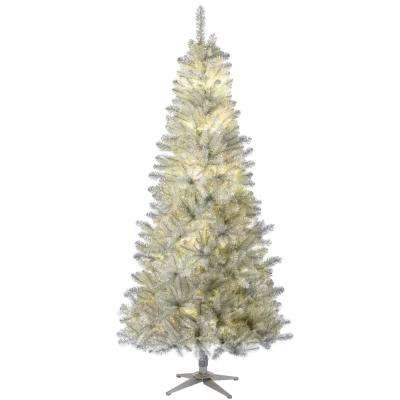 7.5 ft. Pre-Lit LED Nostalgia Vintage Quick Set Artificial Christmas Tree with RGB Lights