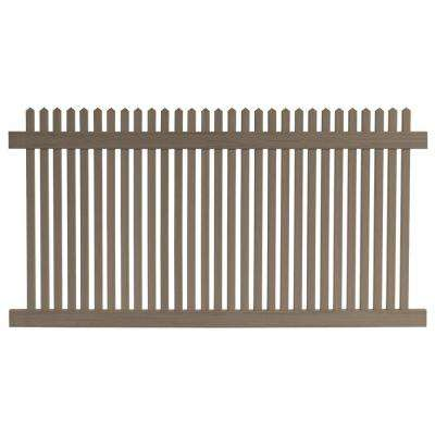 4 ft. H x 8 ft. W Cedar Grove Chestnut Brown Vinyl Picket Fence Panel