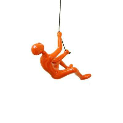 Climbing Man Orange Wall Art