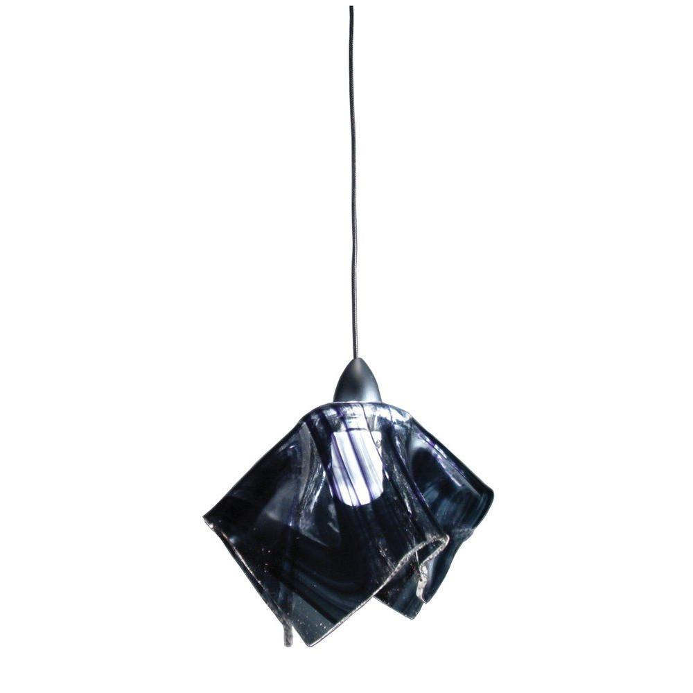 Illumine 1 Light Noir Swirl Handkerchief Fused Pendant
