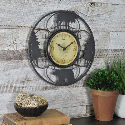 11 in. H Wildlife Wire Wall Clock