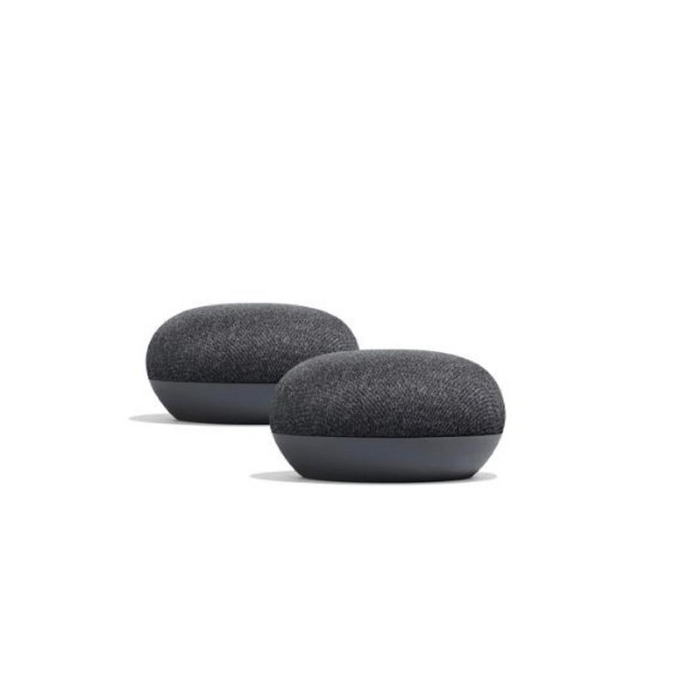 Google Nest Mini (2nd Gen) Charcoal 2-Pack