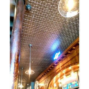 Dimensions Faux 2 ft. x 4 ft. Tin Style Ceiling and Wall Tiles in Brass