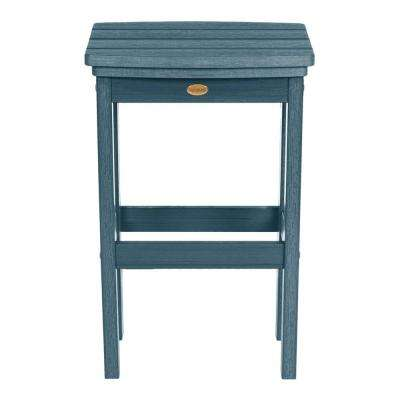 Lehigh Nantucket Blue Recycled Plastic Outdoor Bar Stool
