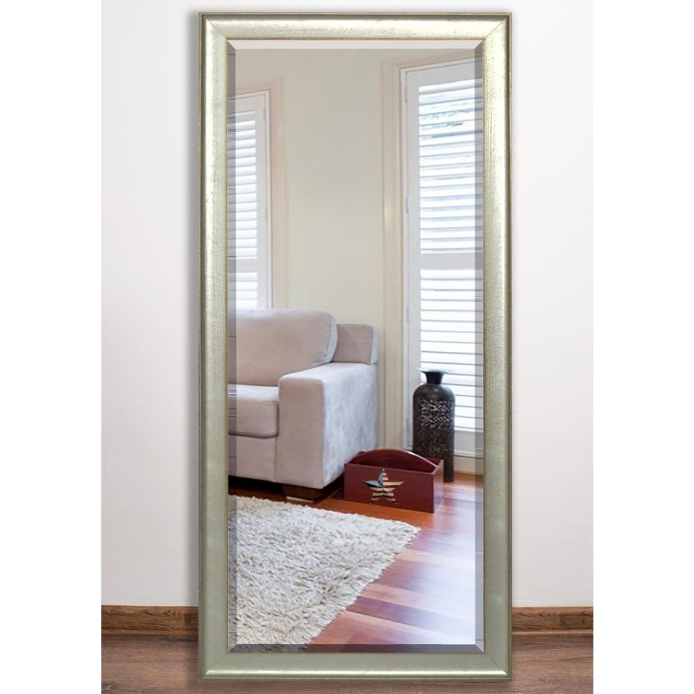 Vintage Silver Beveled Full Mirror
